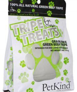 Petkind green beef tripe dog treats