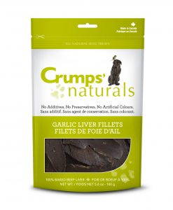 Natural liver dog treats made in Canada by Crumps Naturals.