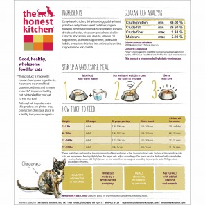 Honest Kitchen prowl cat food.