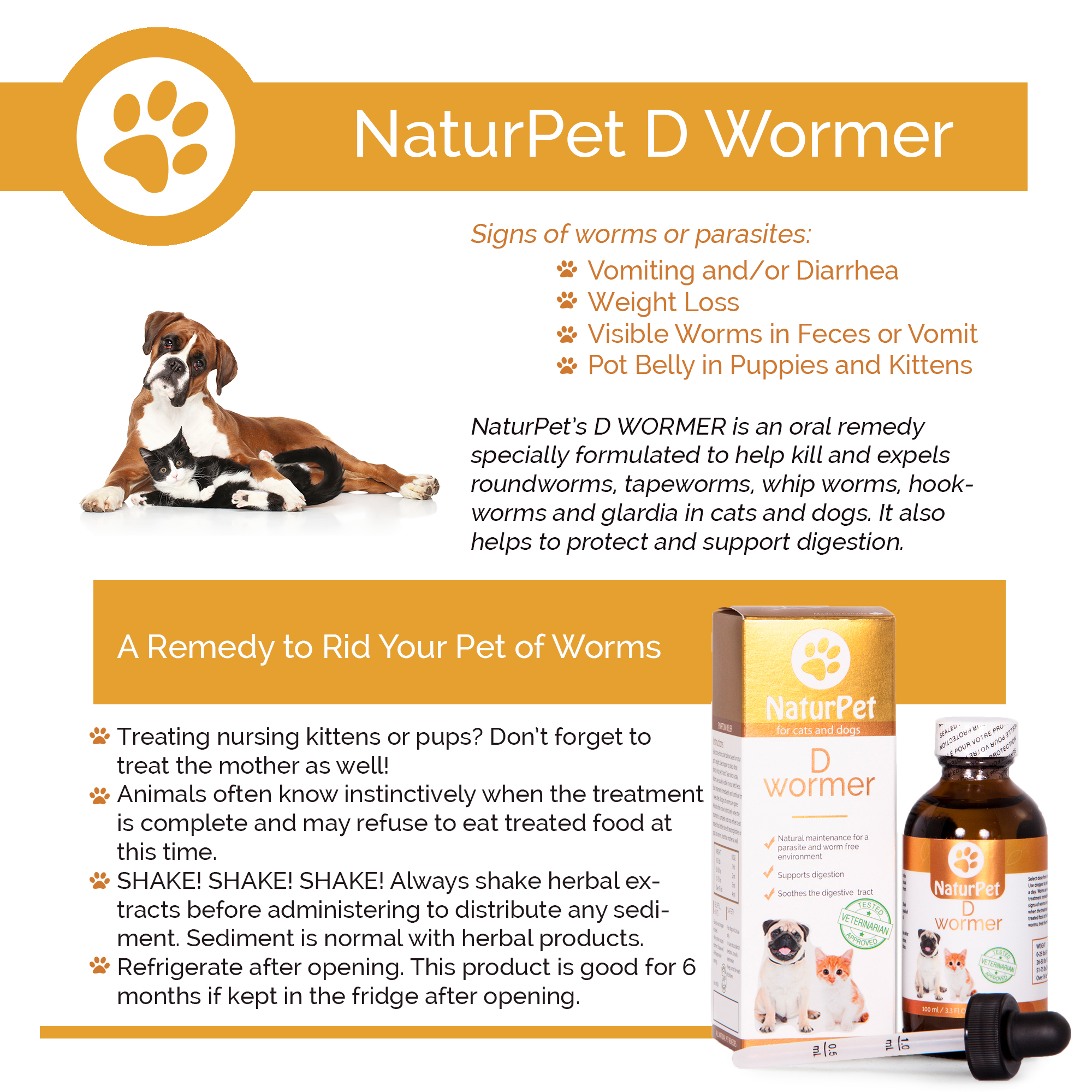 D-Wormer by Naturpet for repelling fleas, worms and parasites.
