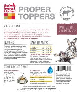 Honest Kitchen Proper Toppers Beef