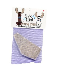This and That Moose Antler natural dog chew