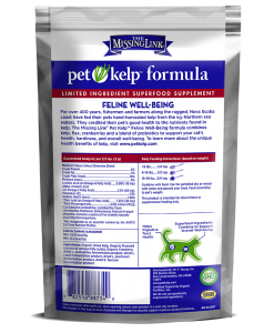 Missing Link Pet-Kelp-Feline-Well-Being Supplement with probiotics.