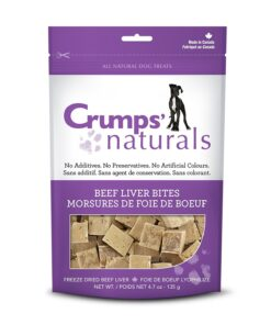 Crumps' Beef Liver Bites dog treats