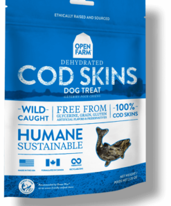 Freeze Dried Cod Skins for Dogs.