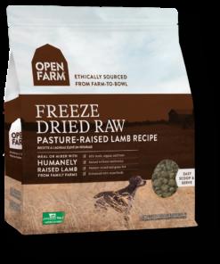 Open Farm Freeze Dried Lamb Raw Dog Food.