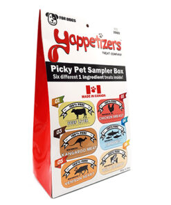 Yappetizers pet treats sampler box