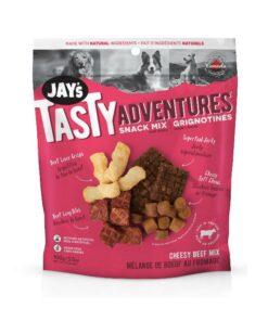 Jay's Tasty Adventures Snack Mix Dog Treats Cheesy Beef Mix