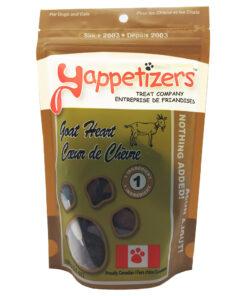 Yappetizers Goat Heart dog treats