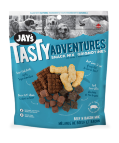 Jay's Tasty Adventures Snack Mix Dog Treats Beef Bacon Mix