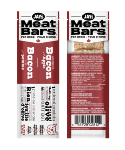 Jay's Tasty Adventures Bacon Meat Bars for dogs