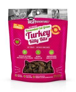 Jay's Tasty Adventures Fermented Cat Grass Turkey Bits