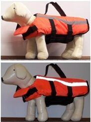 Dog life jacket flotation vest